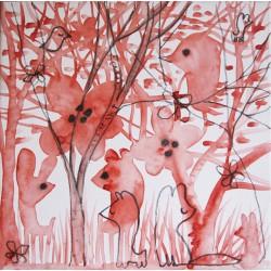 Bosque rojo - vanesa linares