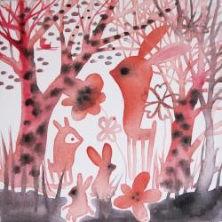 Encuentro en el bosque rojo-vanesa linares