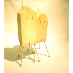 Doble casita, sculpture madera