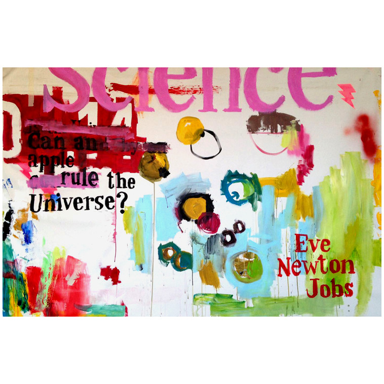 EVE, NEWTON, JOBS painting by The Catman