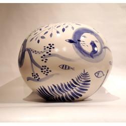 Jour de pêche - Vase de V. Linares