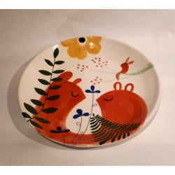 Ceramic plate Guspirus of V. Linares