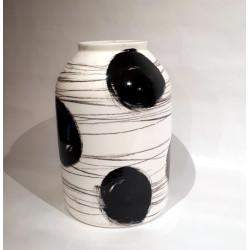 Vase XXL Blanc & Noir de Rita