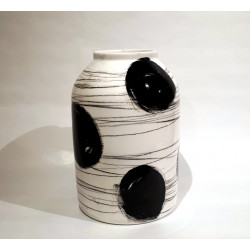 XXL Black & White Vase of Rita