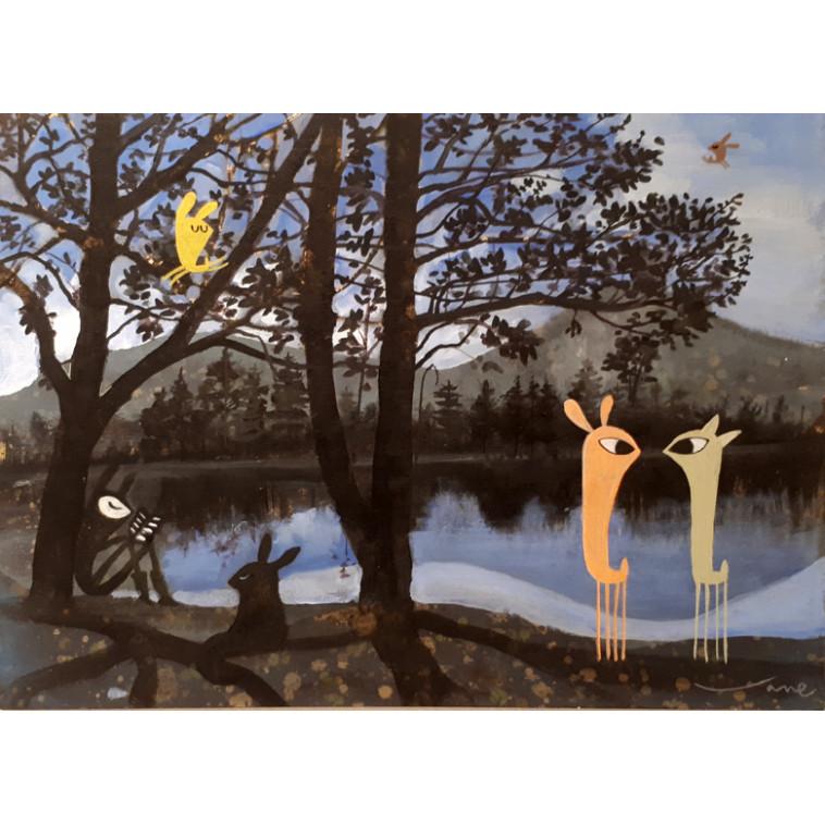 Guspis en el lago, tableau de V. Linares