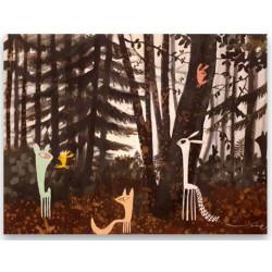 Familia Guspi en el bosque, cuadro de Vané