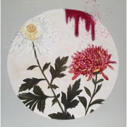 Flowers circle 02 cuadro de K. Fabrizzi