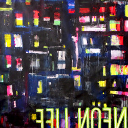 BLACK NEON LIFE painting by The Catman