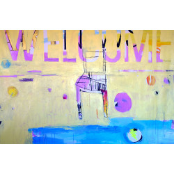 WELCOME painting by The Catman