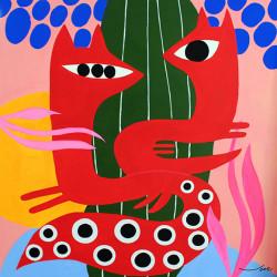 GUSPIRUS IN LOVE cuadro de V. Linares