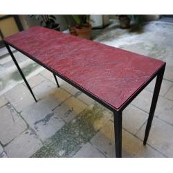 EMPREINTES Bordeaux table console by Josep Cerdá