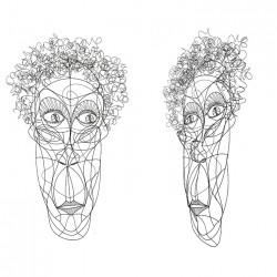 Escultura Mascara