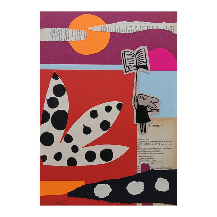 READING GUSPIRUS 03 collage de V. Linares