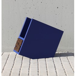 M BLUE magazine rack