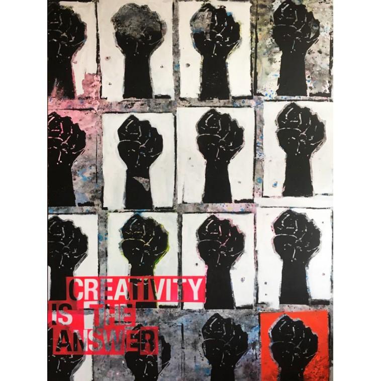 CREATIVITY IS THE ANSWER tableau de The Catman