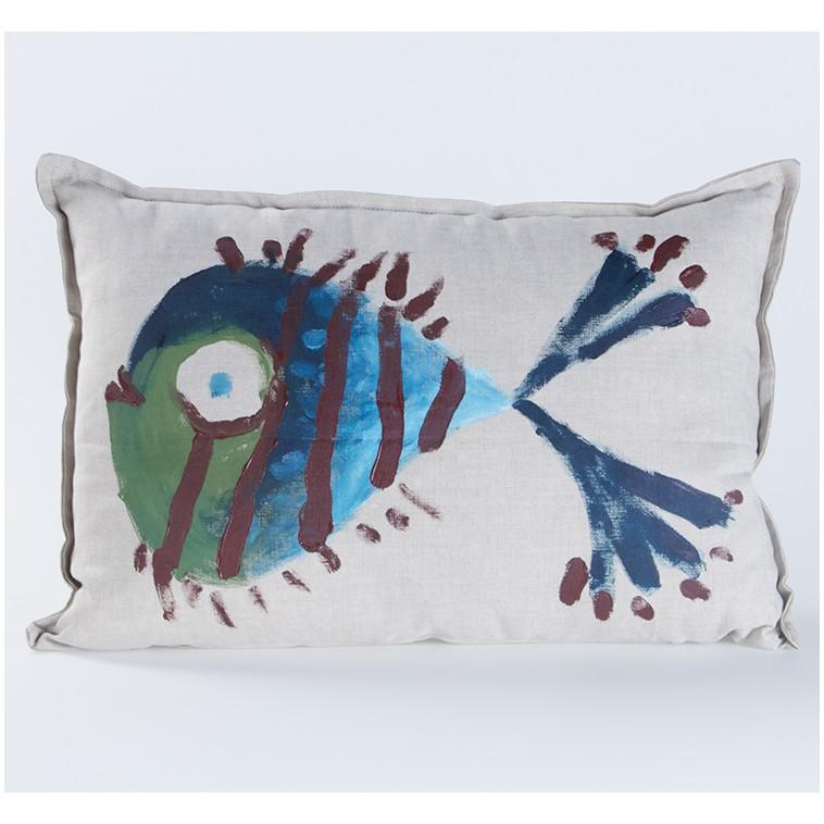 PEZ AZUL cushion