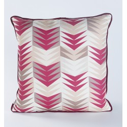 CHEVRONS BORDEAUX cushion