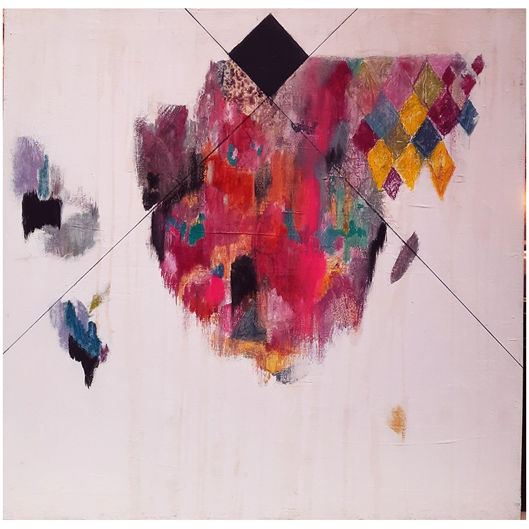 Pink Montana tableau de K. Fabrizzi