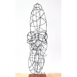 Sculpture en fil de fer Visage 07