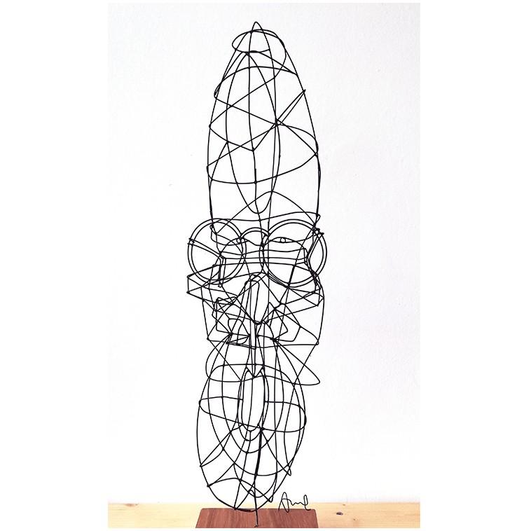 Escultura en alambre Visage 07