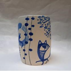 DE MI FAMILÍA...vase en céramique peint à la main par Vanessa Linares