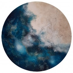 LUNA OLA 07 circle painting by I. V. Fortuny