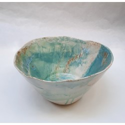 SAND 02 ceramic salad bowl by S. Requena
