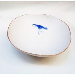JELLY FISH deep dish or ceramic artistic centerpiece
