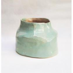 CUBISTA vase en céramique, pièce unique
