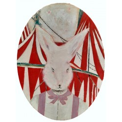 Bunny & Circus portrait painting by K. Fabrizzi
