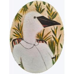 CURIOSITÉ GOOSE painting, human goose rportrait by K. Fabrizzitrain