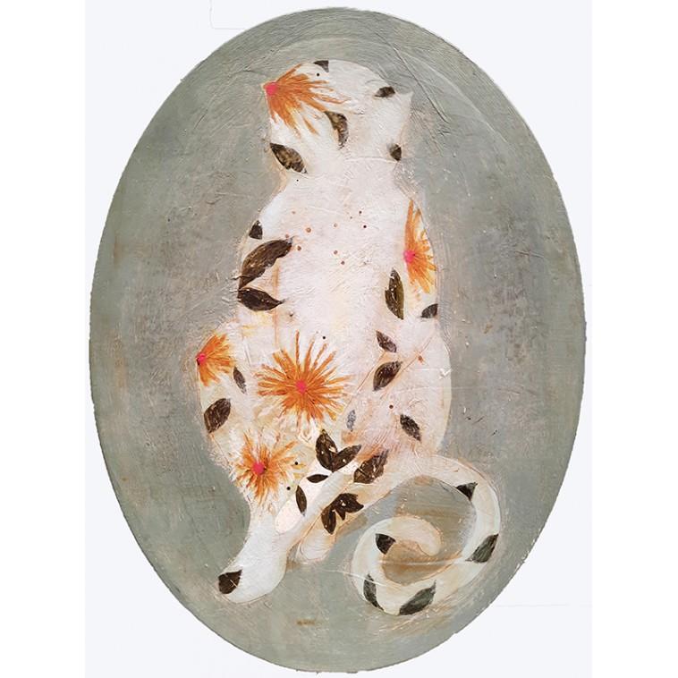 MONKEY FLORES cuadro de K. Fabrizzi