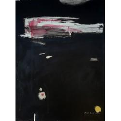 LA VIDA EN LOS ABISMOS pintura sobre cartulina de The Catman