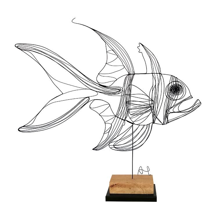 PEZ CARDENAL escultura