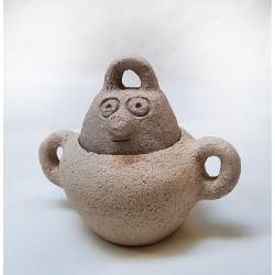 087 sugar bowl, handmade ceramic by Meritxell Duran