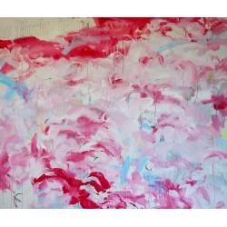 TEH LIMIT tableau contemporain coloré de très grand format par The Catman