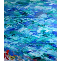 CROSSING large format Marine painting by The Catman