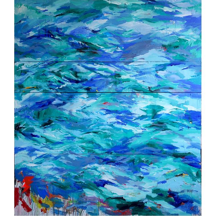 CROSSING tableau Marine grand format de l'artiste The Catman