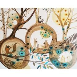 GUSPIRUS IN BLUE LANDSCAPE 03 cuadro de Vanessa Linares