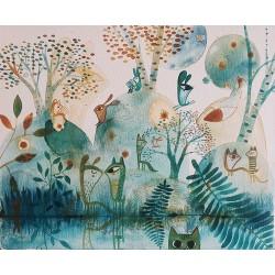 GUSPIRUS IN BLUE LANDSCAPE 01 tableau