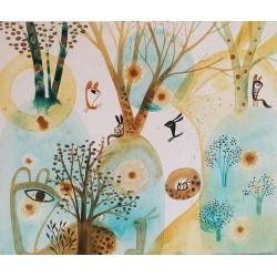 GUSPIRUS IN BLUE LANDSCAPE 02 tableau de Vanessa Linares