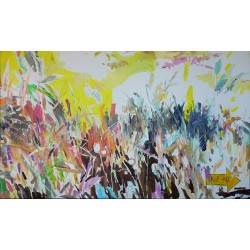 SKIP AD contemporary large format painting by The Catman