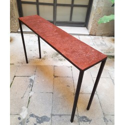 EMPREINTES Olive, hand made table-console