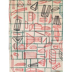 SIN TITULO cuadro geometrico del artista Irene Bou