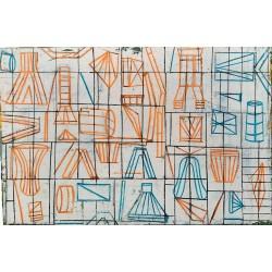 ORNAMENTOS cuadro abstracto de Irene Bou