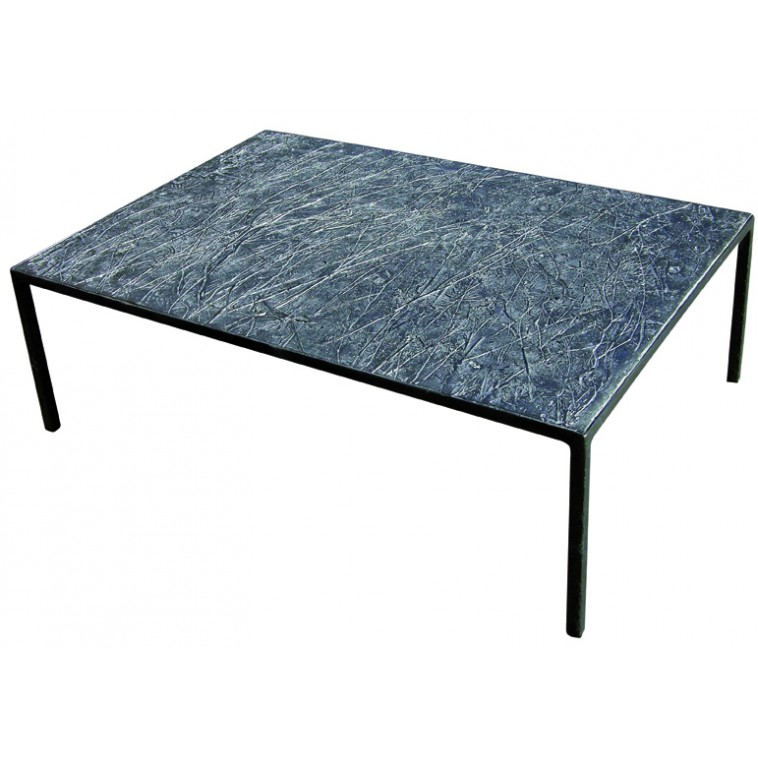 EMPREINTES Graphite coffee table by Josep Cerdá