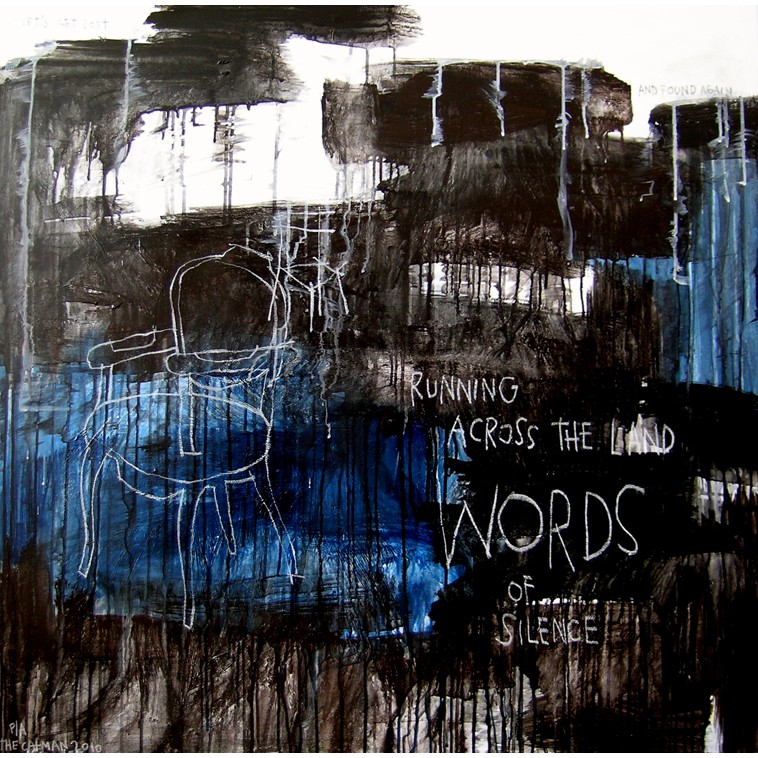 WORDS painting by The Catman