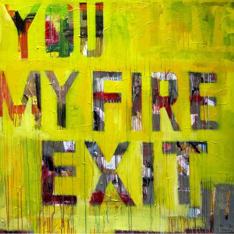 FIRE EXIT cuadro de The Catman