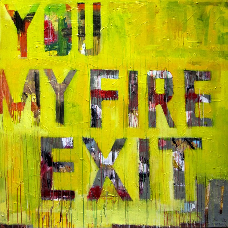 FIRE EXIT painting by The Catman